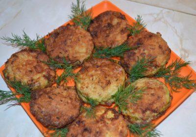 кабачки с мясом в кляре